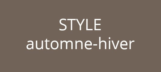 style automne hiver