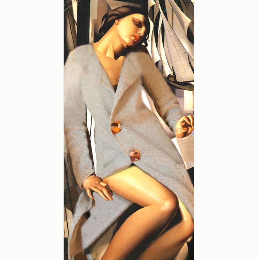 pull ble sur Nu au Voile de Tamara Lempicka