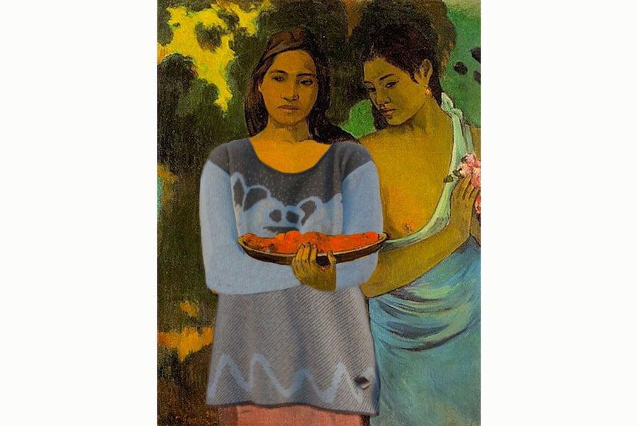 pull orge sur tahitienne de Gauguin
