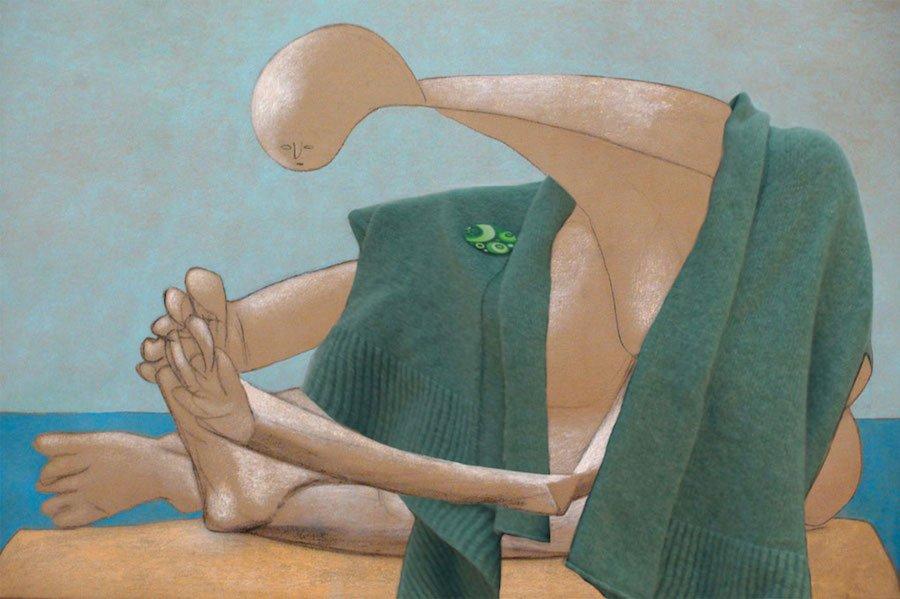 pull pollen sur femme de Picasso