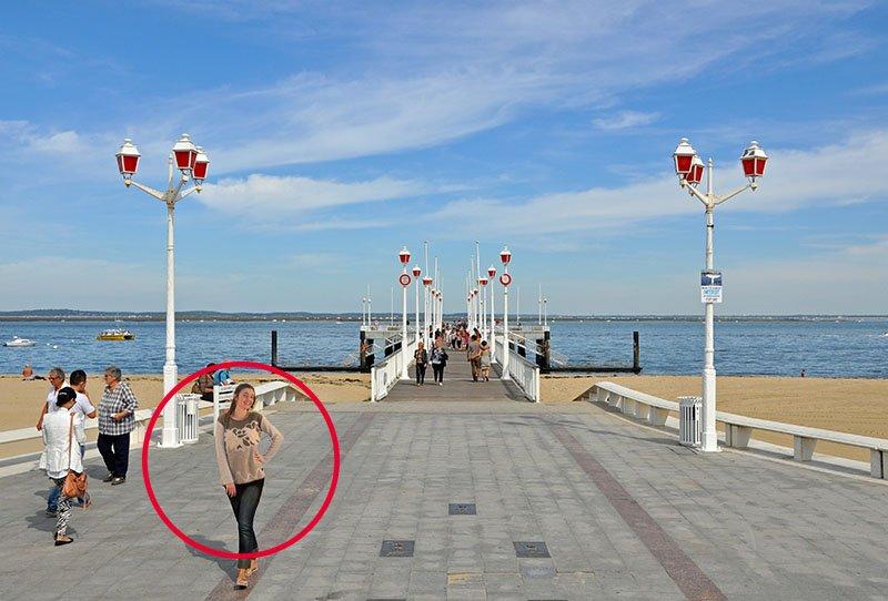 pull orge à arcachon sur promenade du front de mer