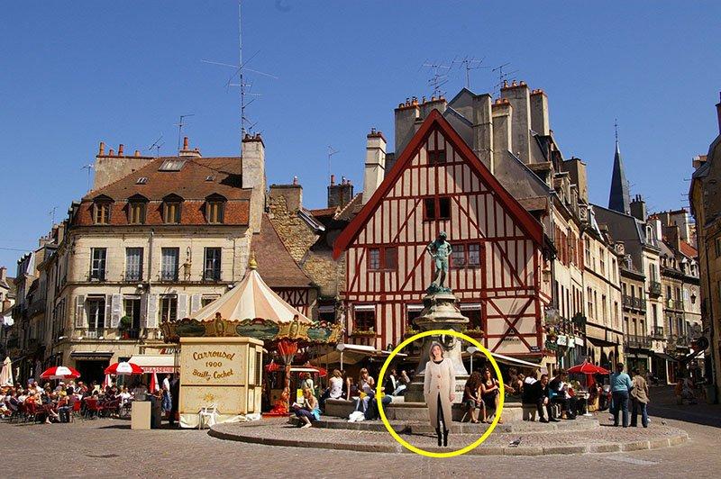 manteau ble en laine a Dijon