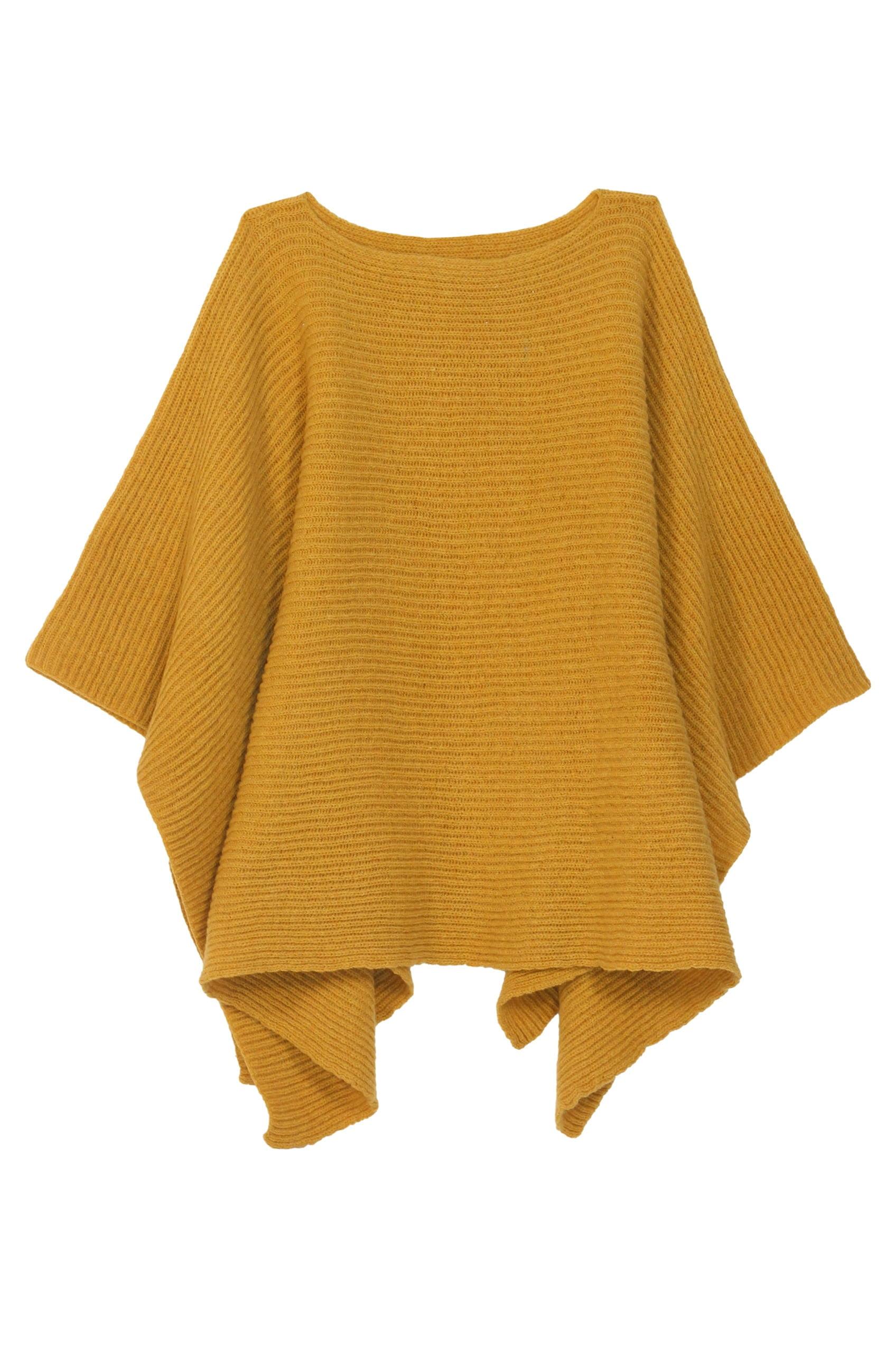 poncho jaune