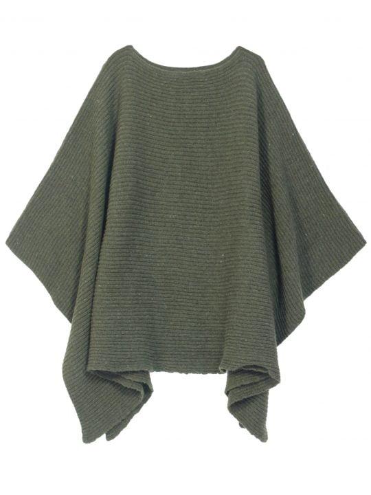 poncho vert
