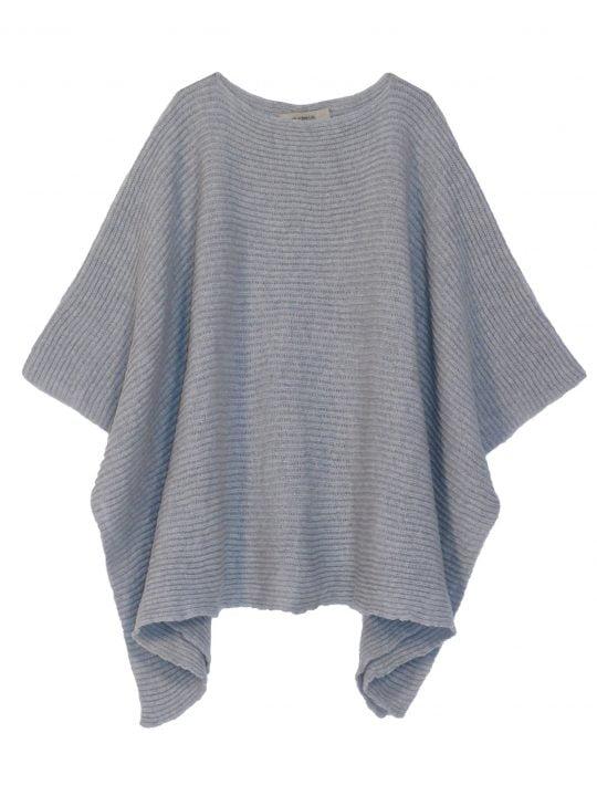 poncho gris