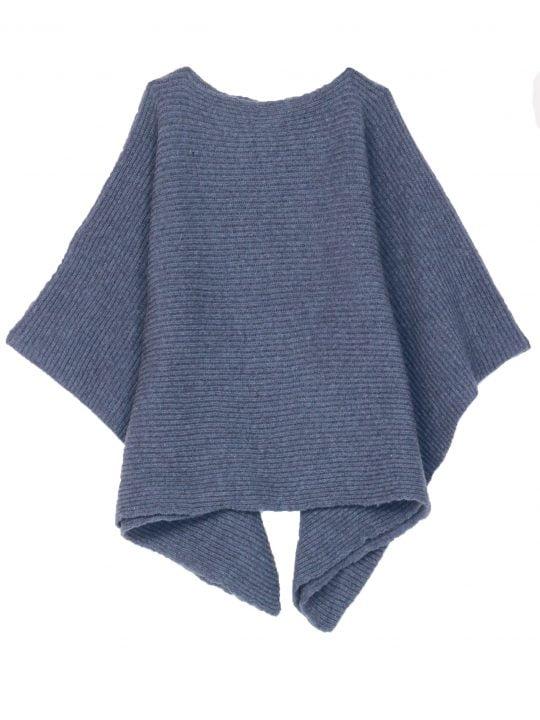 poncho bleu jean