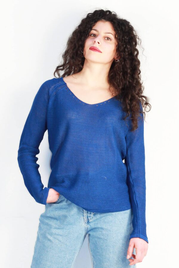 tee shirt bleu pétrole